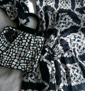 Шифоновое платье и сумочка в подарок!)