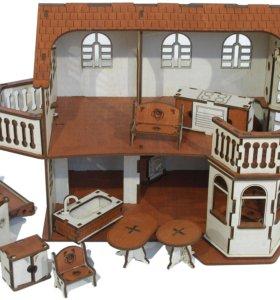 Кукольный домик с эркером для ваших принцесс
