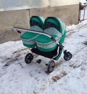 Детская коляска Indigo для двойни