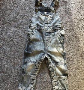 Новый джинсовый комбинезон mothercare с биркой