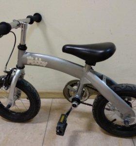 Детский беговел-велосипед hobby bike 2 в 1