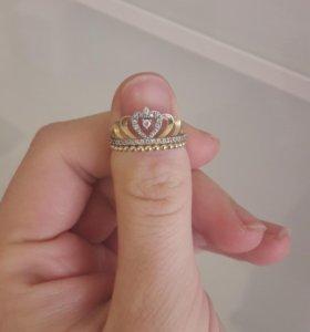 Золотое кольцо корона 585