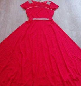 Новое Красное Платье в Пол р.44