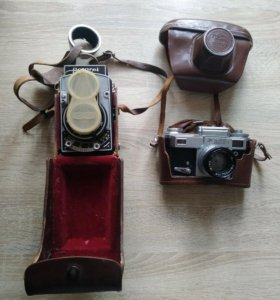 Раритетные камеры Киев-4 и флексер