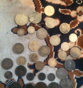 Монеты ссср 32 штуки разных номиналов