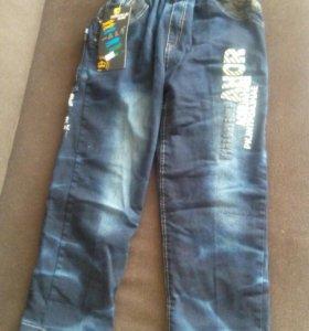 Зимние джинсы новые на 11-12 лет