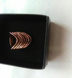 Кольцо  новое с позолотой