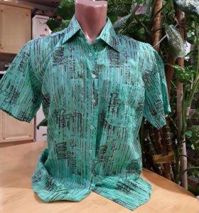 Мужские рубашки с короткими рукавами.,новые