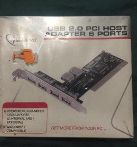 Pci host adapter usb 2.0 6 ports