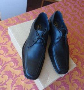 Туфли мужские кожаные 41 размер новые