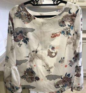 Блузка рубашка шёлк новая