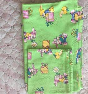 Комплект детского постельного белья (новый)
