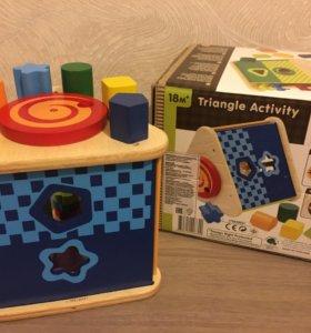 Игрушка развивающая деревянный треугольник