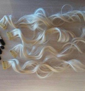 Волосы накладные Блонд!