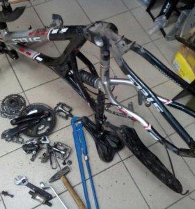Ремонт любых велосипедов, колясок.