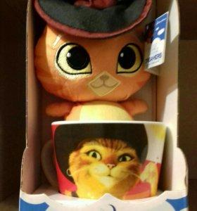 Кот в сапогах/игрушка в кружке
