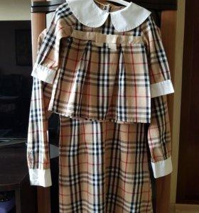 Одинаковые платья на маму и дочку