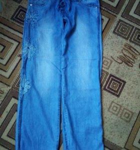 Летние,джинсовые штаны