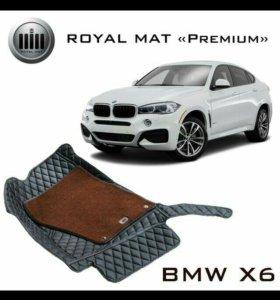 Автомобильные 3D коврики Royal Mat из эко-кожи