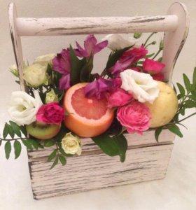 Ящики для цветов , фруктов и сладостей