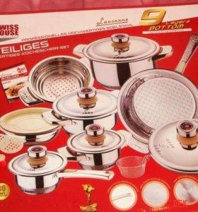 Комплект новой посуды для индукционных плит