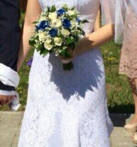 """Роскошное свадебное платье """"рыбка"""""""