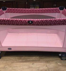 Манеж -кровать Chicco Lullaby Travel Cot(розовый)