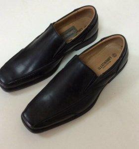 Туфли мужские новые 41-45 чёрные ботинки италия