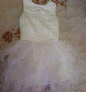 Белое платье на выпускной новое р.158