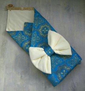 Детский конверт (одеялко и подушечка).