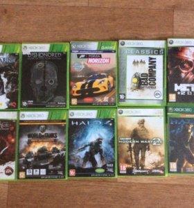 Xbox 360 в комплекте с 10 играми