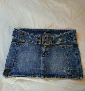 Юбка джинсовая, размер 44-46.
