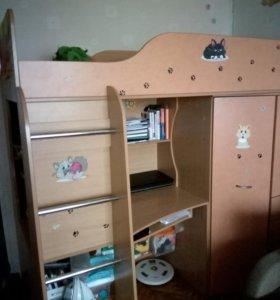 Кровать- чердак для девочки