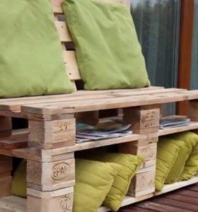 Мебель из европоддонов.