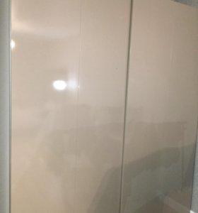 Шкаф купе шир- 60см; дл -2 м  ;новый светло серый