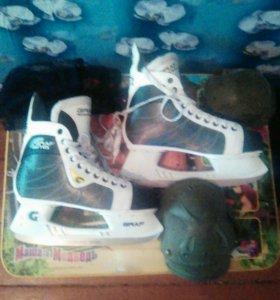 Ледовые коньки,(ледорубы),GRAF.Налокотники,наколен