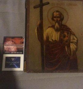 Икона антикварная Андрей Первозванный святой