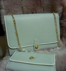 Комплект-сумка клатч +кошелёк.