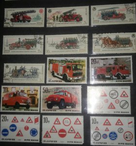 Коллекция марок на фото не все