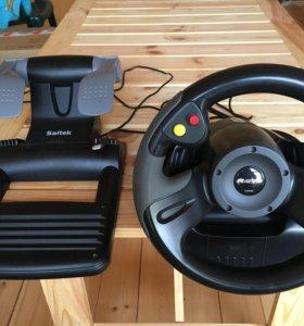 Руль и педали Saitek R-220