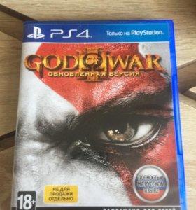 Диск с игрой God of war 3 Remastered на PS4