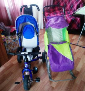 велосипед и санки