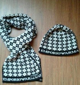 Armani шапка и шарф