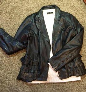 Куртка кожаная 46-48 размер