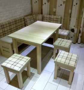 Кухонный уголок. Стол. Стулья