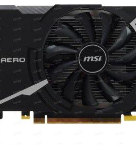 MSI GeForce GTX 1050 Ti AERO 4 гб
