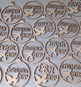 Медальки для выпускников детского сада