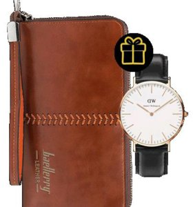 НОВЫЙ портмоне кошелек Baellery Leather + подарок