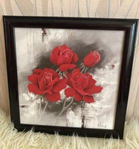 Репродукция картины «Розы»