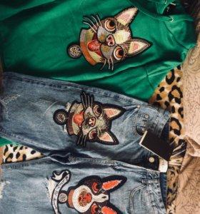 Толстовка и джинсы Gucci Только сегодня